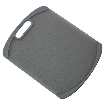 Farberware 11 x 14 Nonslip Poly Cutting Board Gray