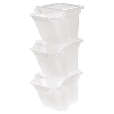 IRIS 18.4 Qt Recycle Storage Bin - 6 Pack