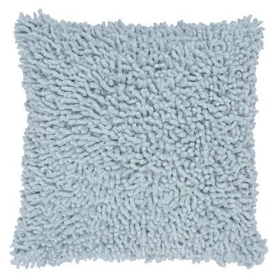 Aqua Shag Throw Pillow 18 x18  - Rizzy Home®