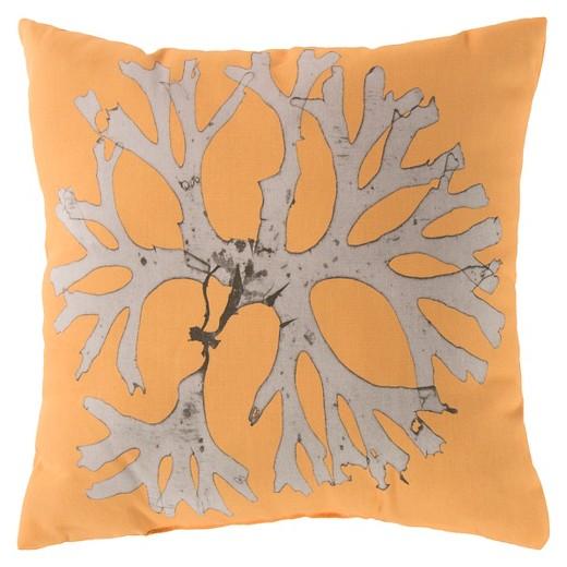 Target Coastal Throw Pillows : Sunflower Brisbane Coral Throw Pillow 20