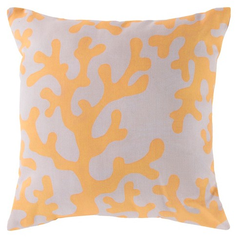 Bolinas Coral Throw Pillow - Surya® - image 1 of 1