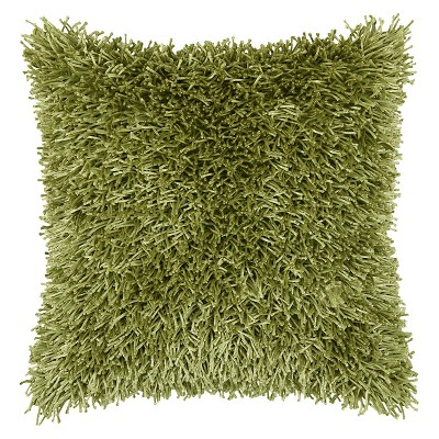 Lime Tufted Shag Throw Pillow 18 x18  - Rizzy Home®
