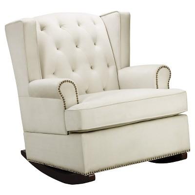 tufted nailhead wingback rocker - Nursing Rocking Chair