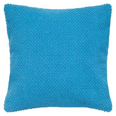 Aqua Handloom Textured Throw Pillow 20 x20  - Rizzy Home®