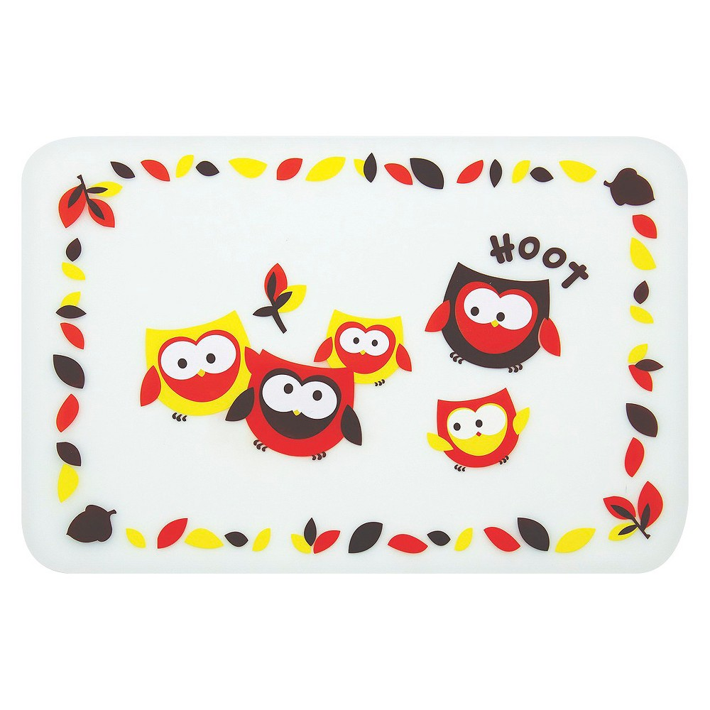 Bumkins Silicone Baby Placemat - Owls, Multi-Colored