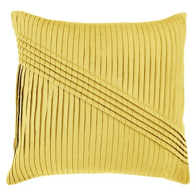 Yellow Pleated Throw Pillow 22 x22  - Rizzy Home®