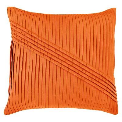 Orange Pleated Throw Pillow 22 x22  - Rizzy Home®