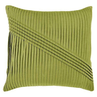 Lime Pleated Throw Pillow 22 x22  - Rizzy Home®