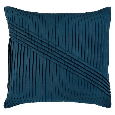 Blue Pleated Throw Pillow 22 x22  - Rizzy Home®