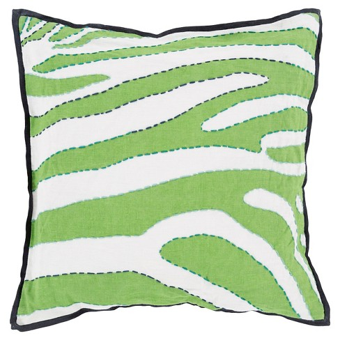 Stitched Zebra Throw Pillow - Surya® - image 1 of 1