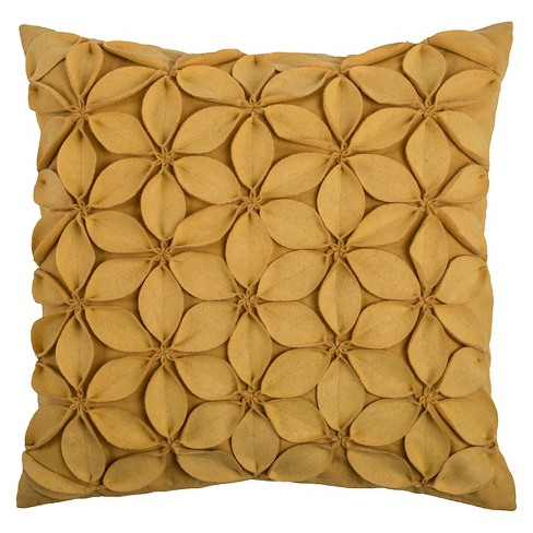 Leaves Applique Throw Pillow - Rizzy Home® - image 1 of 1