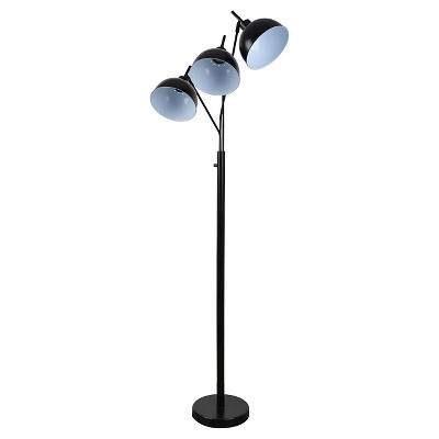 Elevated Multihead Floor Lamp Black Includes Cfl Bulb Room