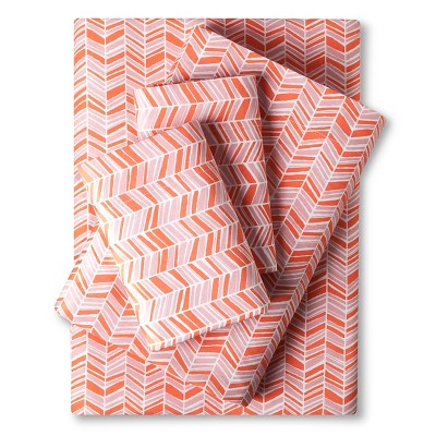 Easy Care Sheet Set (King)Coral Chevron - Room Essentials™