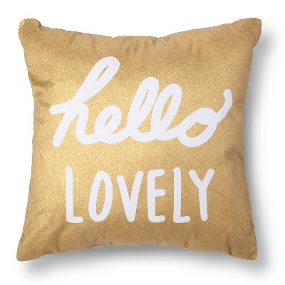 Gold & White  Hello Lovely  Throw Pillow - Xhilaration™