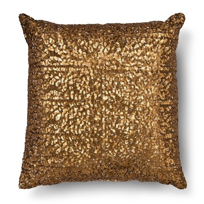 Bronze All Over Sequin Square Throw Pillow - Xhilaration™