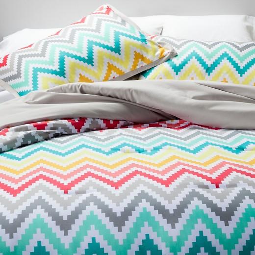 printed chevron comforter set - xhilaration™ : target