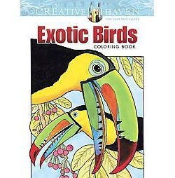 Exotic Birds Adult Coloring Book