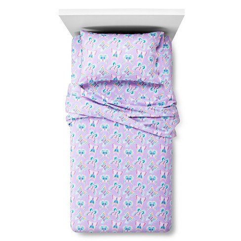 Circo™ Butterfly Flannel Sheet Set - Purple (Queen) - image 1 of 1