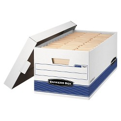 """Bankers Box® Stor/File™ Medium-Duty Storage Boxes With Lift-Off Lid, Legal, 15 x 10 x 24"""" Inches, 12/Carton"""