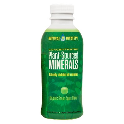 Natural Vitality Plant-Sourced Minerals Organic Dietary Supplement Drink - Green Apple - 16 fl oz