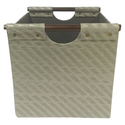 Pandan Woven Cube Storage Bin 13  - Gray - Threshold™