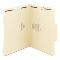 Smead SuperTab File Folders with Fastener - 1/3 Cut - 11 Point - Letter - Manila (50 Per Box)