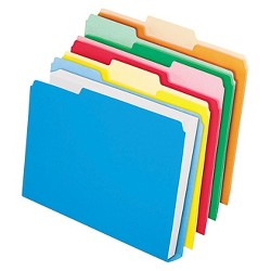 Pendaflex® DoubleStuff File Folders, 1/3 Cut, Letter, Assorted, 50pk