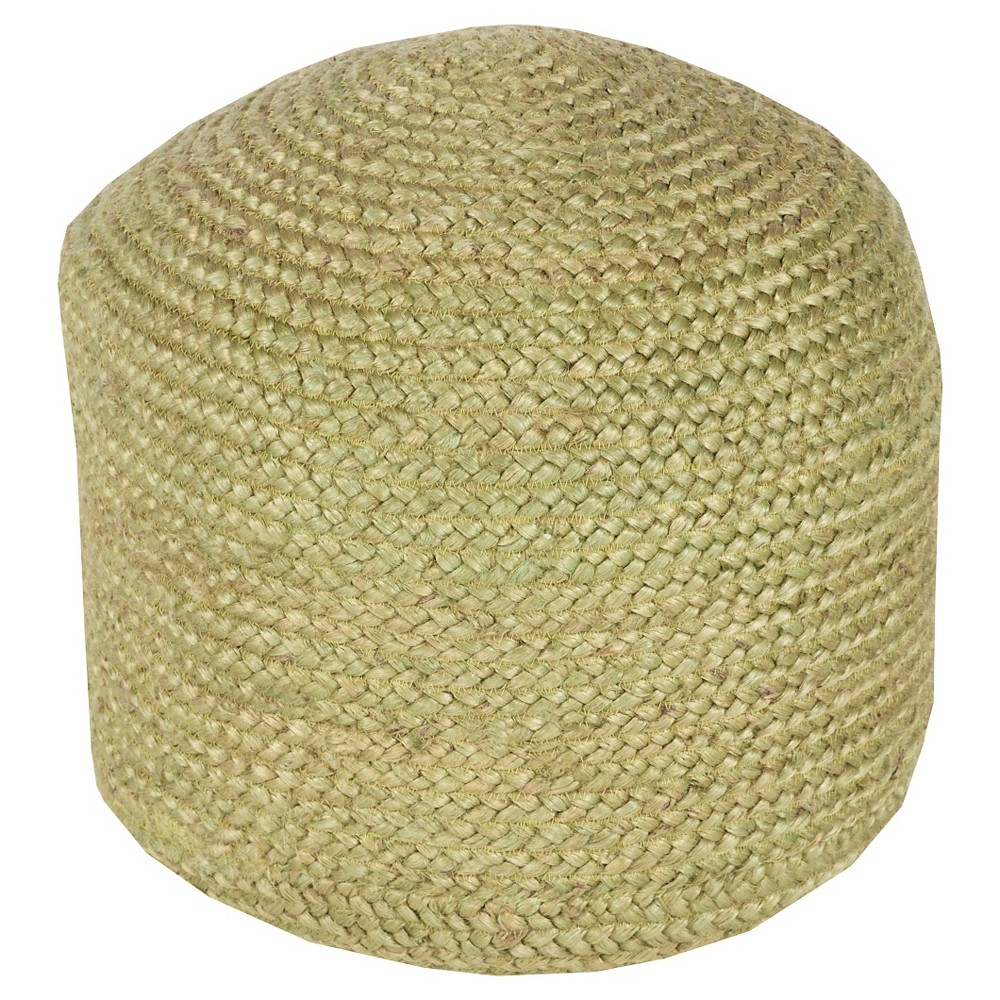 "Olive (Green) Knotted Round Pouf 20x20""""x14"""" - Surya"