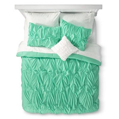Green Chevron Textured Bed In A Bag (Queen)- Xhilaration™