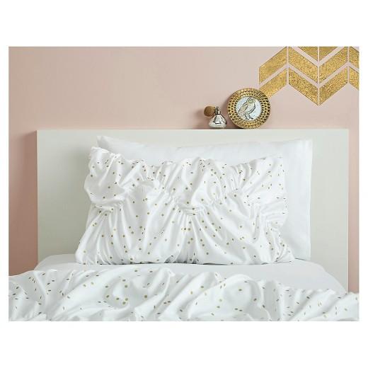 White Amp Gold Metallic Dot Bed In A Bag Full