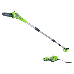 """Greenworks G24 24V Cordless 8"""" Bar And Chain Pole Saw"""