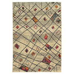 Curved Criss-Cross Area Rug