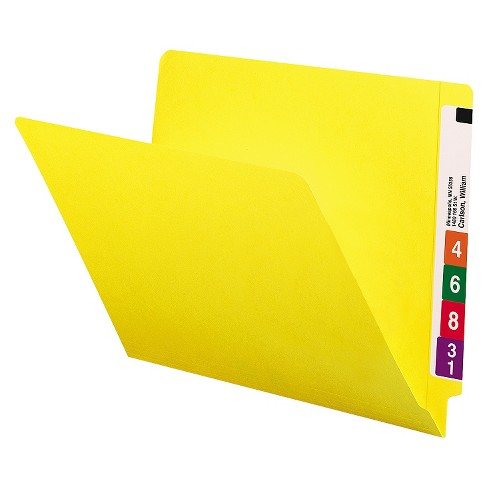 Smead® Colored File Folders, Straight Cut, Reinforced End Tab, Letter, Yellow, 100/Box - image 1 of 1