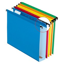 Pendaflex® SureHook™ Poly Laminate Hanging Folders, Letter, Assorted, Two Inch Expansion,