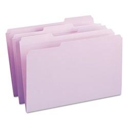 Smead® File Folders, 1/3 Cut, Reinforced Top Tab, Legal, Lavender, 100/Box