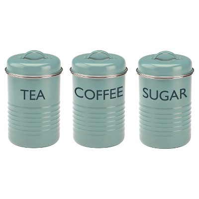 Typhoon Vintage Summer House 3 Piece Tea/Coffee/Sugar Set - Blue