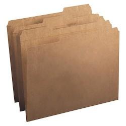 Smead® Kraft File Folders, 1/3 Cut, Reinforced Top Tab, Letter, Kraft, 100/Box