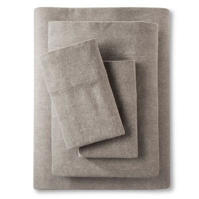 Threshold™ Heather Flannel Sheet Set - Gray (Queen)