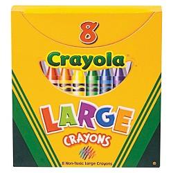 Crayola® Large Crayons with Tuck Box 8ct
