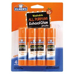 Elmer's® Washable All Purpose School Glue Sticks, 4ct