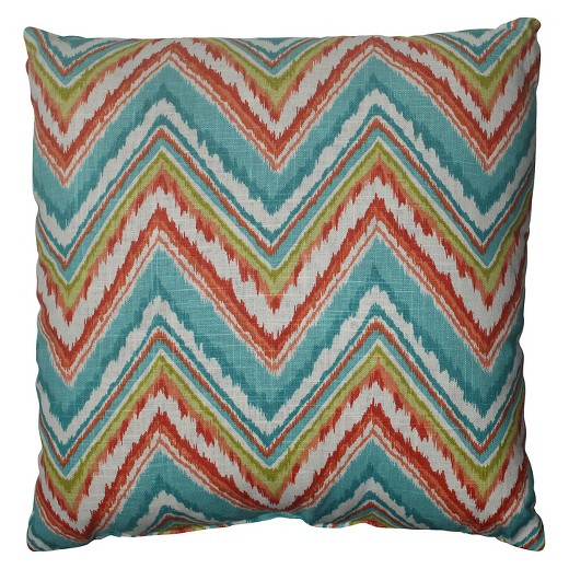 Target Decorative Pillows Blue : Pillow Perfect Chevron Throw Pillow - Blue (18