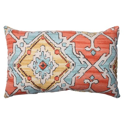 Multicolored Throw Pillow Perfect Sundance Tangerine Throw Pillow (18.5 x11.5 )- Pillow Perfect