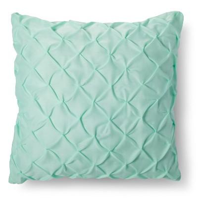 Target Green Throw Pillow : Green Twist & Tuck Throw Pillow (Euro) - Xhilaration : Target