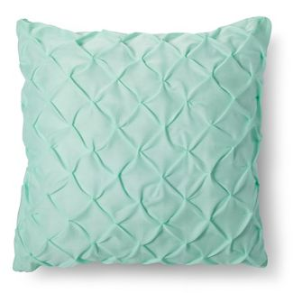 Green Twist & Tuck Throw Pillow (Euro) - Xhilaration