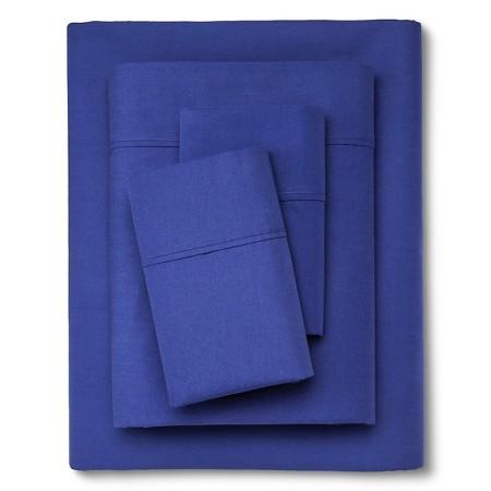 Organic Sheet Set (Queen) Blue 300 Thread Count - Threshold