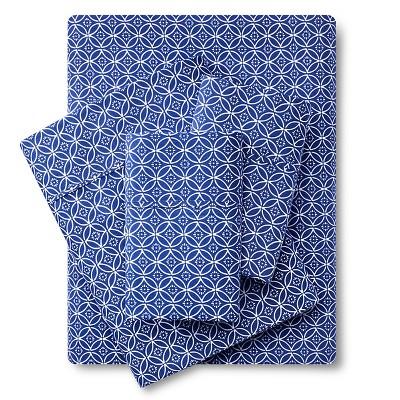 Organic Sheet Set (Queen)Blue Geo 300 Thread Count - Threshold™