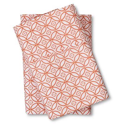 Organic Pillowcase (King)Orange Geo 300 Thread Count - Threshold™