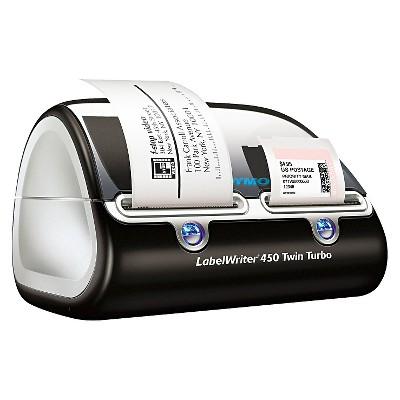 DYMO® LabelWriter Twin Turbo Printer, 71 Labels/Min, 8-1/2w x 7-1/5d x 5-1/5h