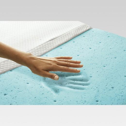2 Temperature Regulating Memory Foam Mattress Topper Threshold