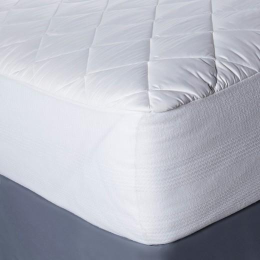 Temperature Regulating Mattress Pad Queen White Threshold